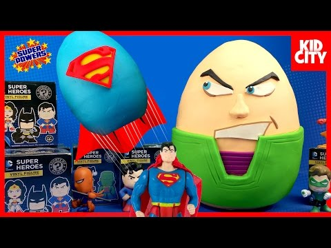 Justice League Toys Play-Doh Surprise Egg with Batman Toys & Superman | KIDCITY