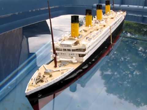 Titanic And Britannic Sinking Titanic Model Sinking