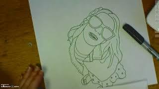 8th Grade Pop Art Self Portrait