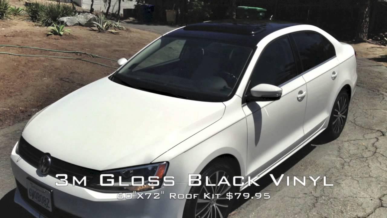2012 Vw Jetta 3m Gloss Black Vinyl Roof Installed Youtube