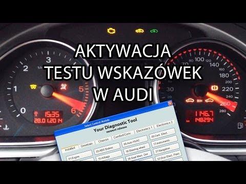 Jak aktywować test wskazówek w Audi (VCDS, VAS, VAG-COM) A1 A3 A4 A5 A6 A7 A8 Q7 2008+