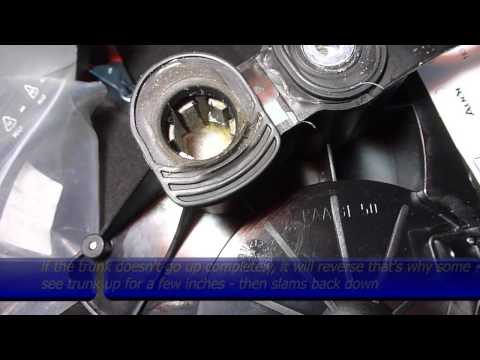 Remove Or Replace Audi A8 D3 Trunk Lid Motor