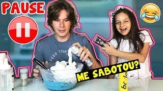 DESAFIO DO PAUSE NA SLIME / SABOTADO? ft. LAILA BRANDÃO