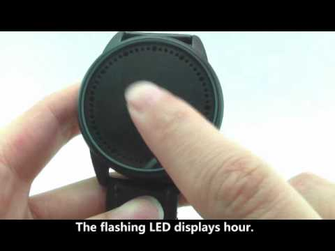 How to Use Fancy Abyss  Blue LED Touch Screen Watch with Snake Skin Band