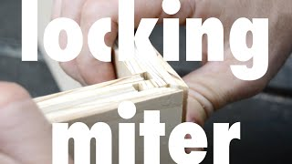 Locking miter on the table saw