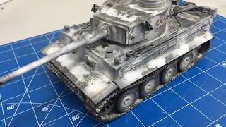 Building and weathering The Tamiya 1/35 Tiger 1 with snow camouflage, plastic models