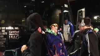 Jayhawks arrive in Omaha for the Sweet 16