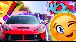 Mr. Green built a garage for the Ferrari toy car for kids
