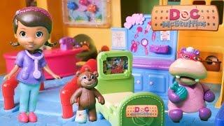 DOC MCSTUFFINS Disney Jr Boo Boos Away Hospital Stay Disney Toys Video Parody