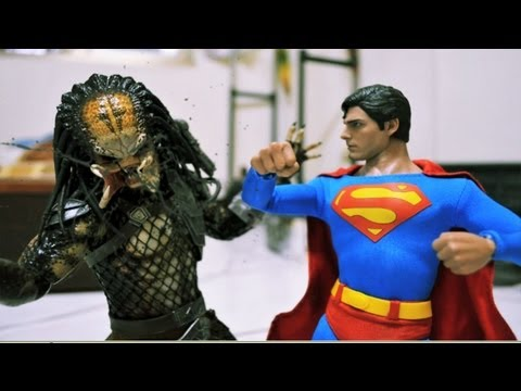 Superman Stop motion - Man of Steel VS Predator 超人與終極戰士