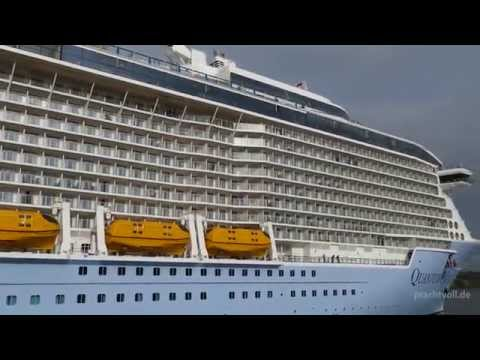 Quantum Of The Seas in Hamburg Docking  HD 2K (1440p)