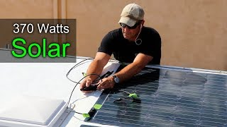 How to Build a DIY Travel Trailer - Solar Panel Install   (Part 11)