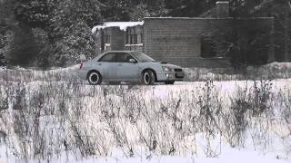 Winter slalom near Gerviskes with subaru Impreza, Forester, CRX, Golf, Audi. Part 2