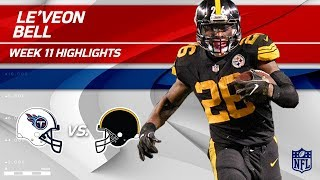 Le'Veon Bell's Big Game w/ 103 Total Yards! | Titans vs. Steelers | Wk 11 Player Highlights
