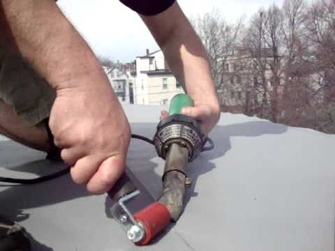 Flat Roof Installation Hot Air Welding Pvc Flat Roof