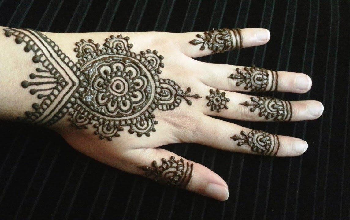 Easy henna flower