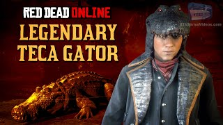 Red Dead Online - Legendary Teca Gator Location [Animal Field Guide]