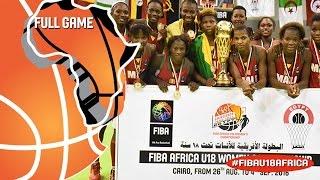 Egypt v Mali - Full Game - Final - 2016 FIBA Africa U18 Women's Championship