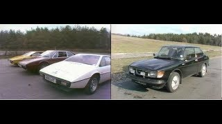 Lotus Esprit vs Ferrari 308 | Saab Turbo |  Retro Car Review | Drive In | 1978