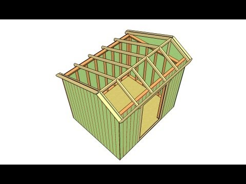 How to build a saltbox shed roof - YouTube