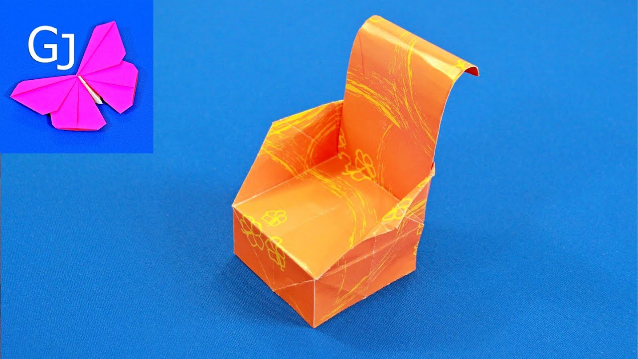 Оригами мебели видео