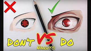 Don't VS Do Compilation | Naruto Edition | How To Draw