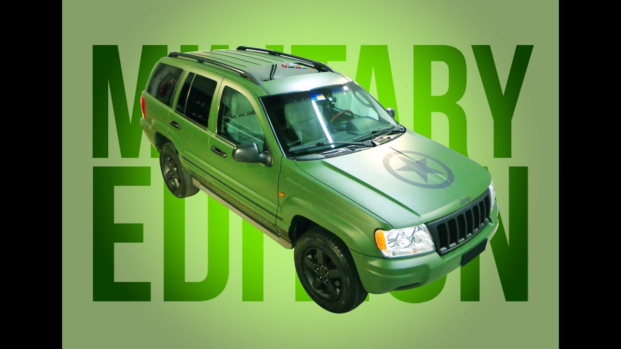 """Cherokee For Less >> CAR WRAPPING - JEEP GRAND CHEROKEE """"Military Edition"""" - YouTube"""