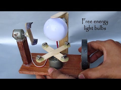 How to Make free energy light Bulbs using Motor with Magnet - Free energy generator homemade DIY thumbnail