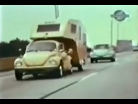 VW Beetle tows fifth wheel travel trailer - YouTube