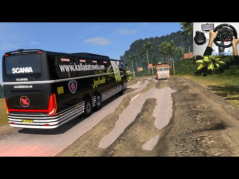 Scania Off-Road Bus Driving | Steering wheel + Shifter Logitechg29 gameplay | Euro truck simulator 2