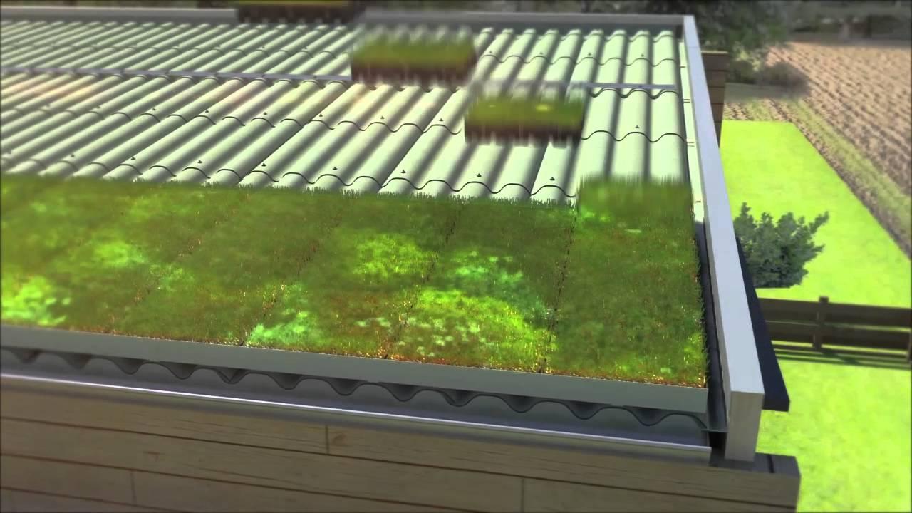 toiture v g talis e avec hydropack sur syst me verdura d 39 eternit youtube. Black Bedroom Furniture Sets. Home Design Ideas
