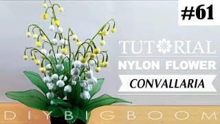 Nylon stocking flowers tutorial #61, How to make nylon stocking flower step by step