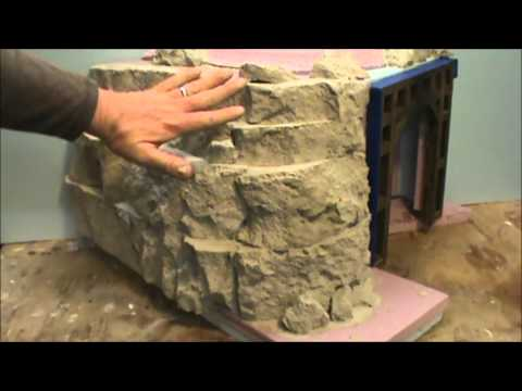 How To Make Rock Formation From Urethane Foam Youtube