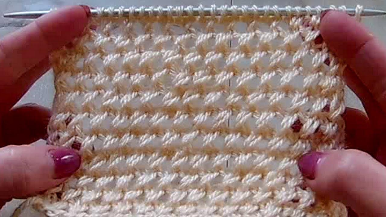 Видеоурок по вязанию узора с вытянутой петлей