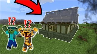 FIND MARK OUR FRIENDLY ZOMBIE SECRET BASE HIDDEN IN THE FORREST !! Minecraft Secret House Mod