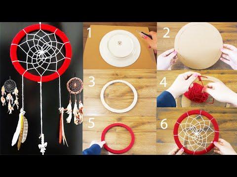 DIY Super Easy Way to Make a Dreamcatcher   Step by step! Easy tutorial! DiYana
