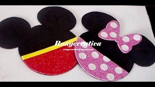 Invitaciones Minnie y Mickey Mouse con solo 3 materiales muy fácil / Ronycreativa