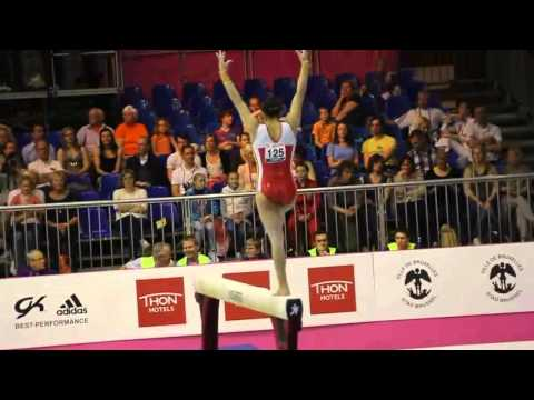 Ana Maria IZURIETA ESP, Beam Senior Qualification, European Gymnastics Championships 2012