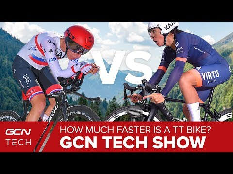 How Much Faster Is A Time Trial Bike Than A Road Bike? | GCN Tech Show Ep.89