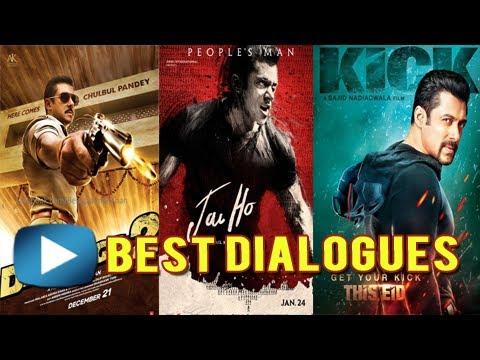 Salman Khans Best Dialogues Of All Time - MUST WATCH