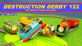 Thomas & Friends Destruction Derby #122 - Trackmaster and Plarail toy trains competition