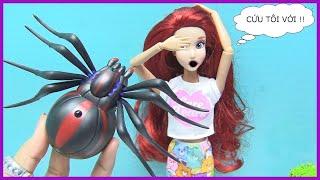 Trò Chơi Chú Gấu Ham Ăn Diện - Barbie & Ken Nàng Tiên Cá Ariel Chơi Game - Game Raccoon rumpus Mỹ