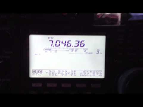 Icom IC 9100 Intern Rtty 45 Baud Test on  7.046.36 Mhz - 17.01.2013  09:23h UTC