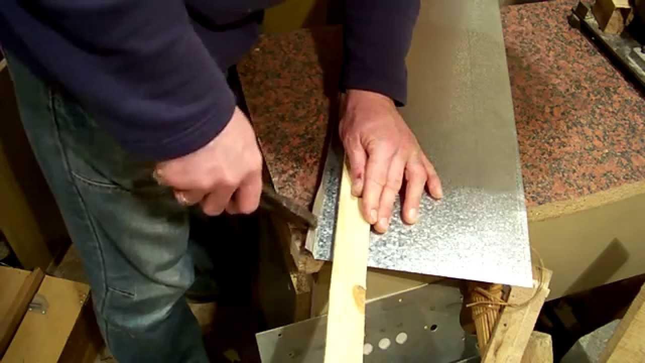 Как делать трубу из оцинковки своими руками 11