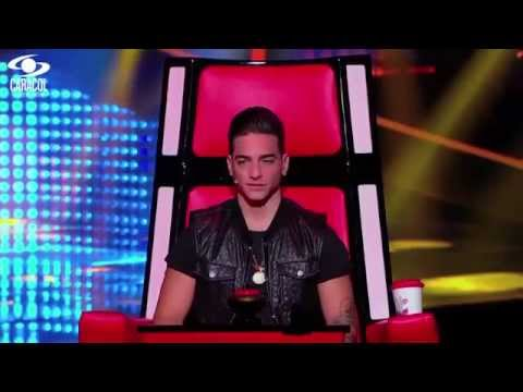 Michael cantó 'Hasta ayer' de Marc Anthony LVK Colombia Audiciones a ciegas T1