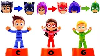 #PJ Masks Wrong Cups Surprise Toys for Halloween - Learn Colors for Toddlers