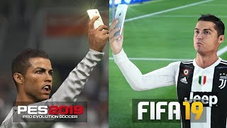 FIFA 19 vs PES 19 : CELEBRATIONS COMPARISON
