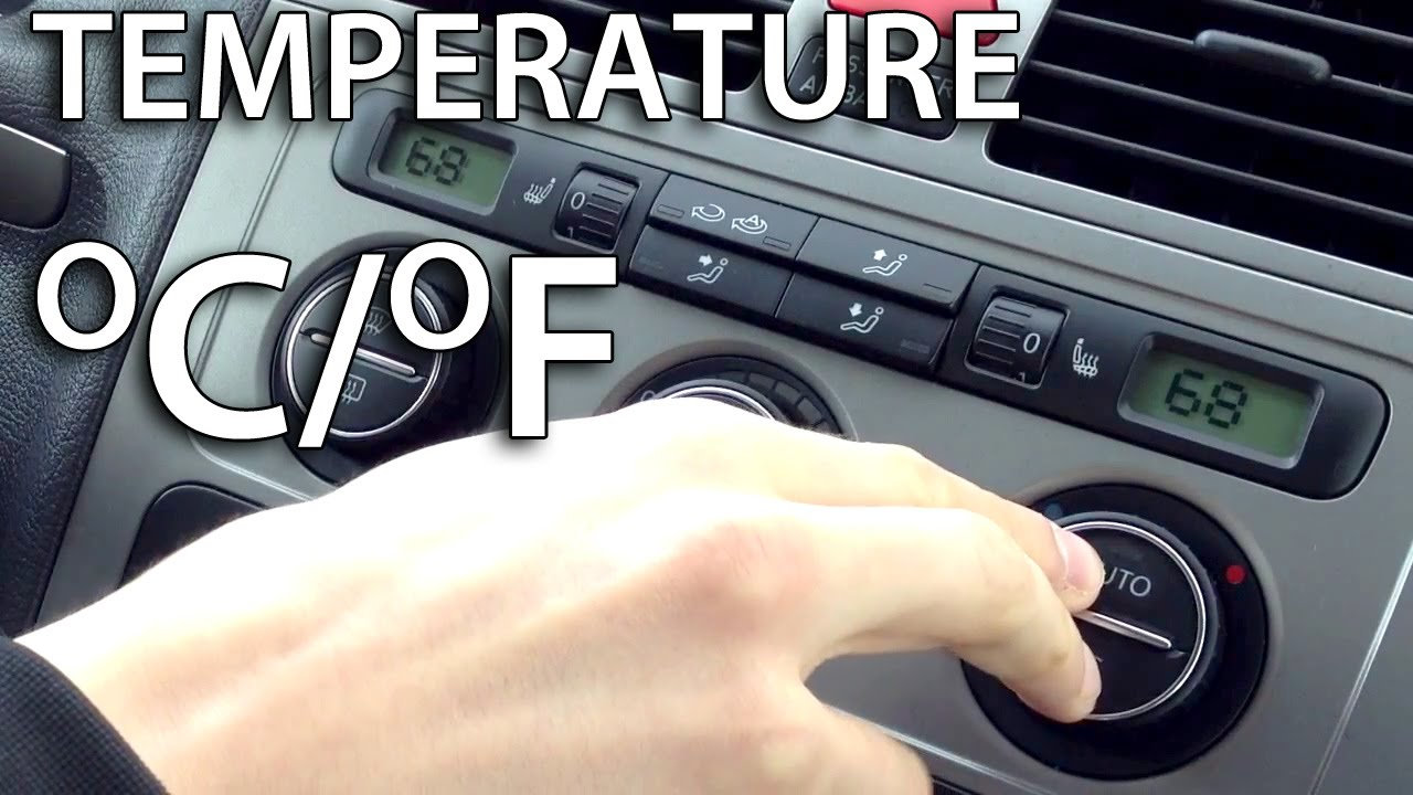 How To Change Temperature Units In Vw Climatronic  Golf