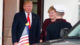 Her møter Erna Solberg Donald Trump