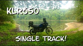 KLR650 - Single Track Ride in The Pines